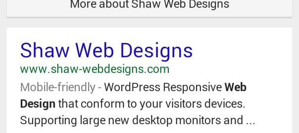 Shaw Web Designs mobile -riendly