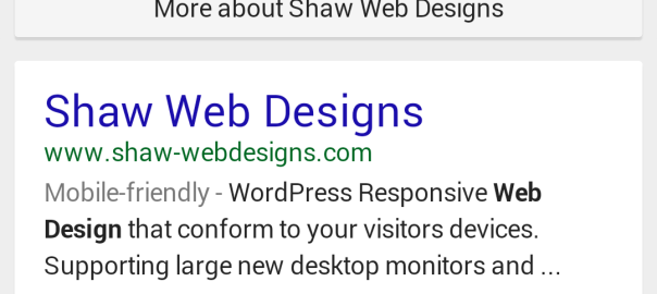 Shaw Web Designs mobile -riendly